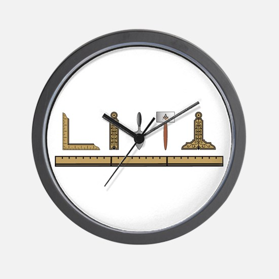 Masonic Working Tools No. 4 Wall Clock