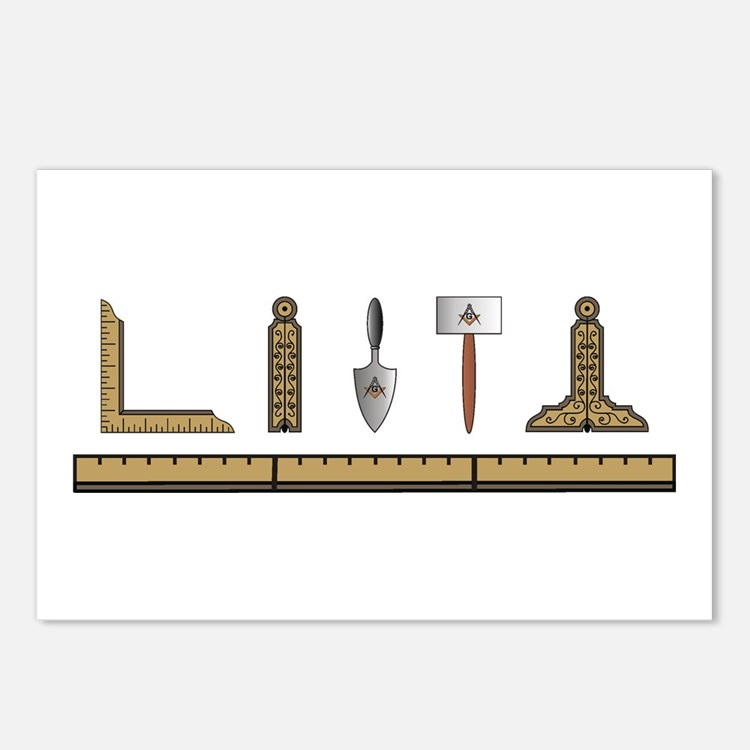 Masonic Working Tools No. 4 Postcards (Package of