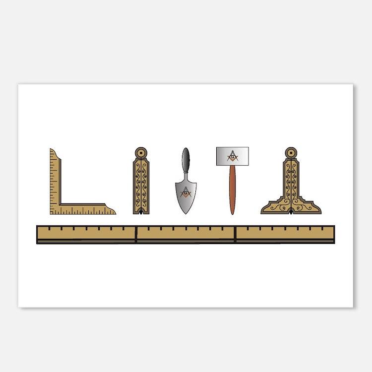 Masonic Tools Post Card Design