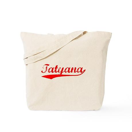 Vintage Tatyana (Red) Tote Bag