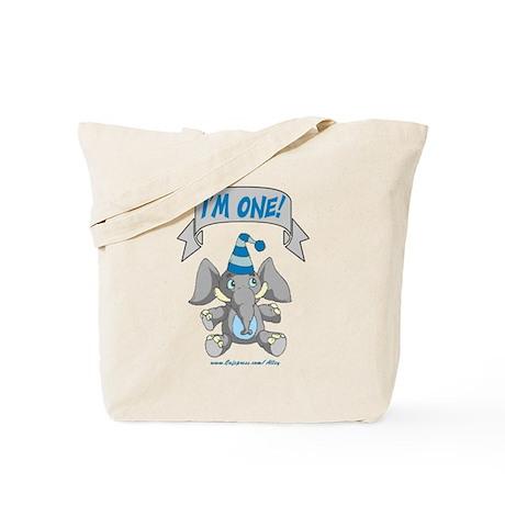 I'm One (blue elephant) Tote Bag
