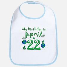 Earth Day Birthday April 22nd Bib