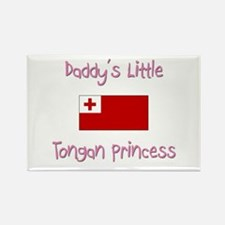 Daddy's little Tongan Princess Rectangle Magnet