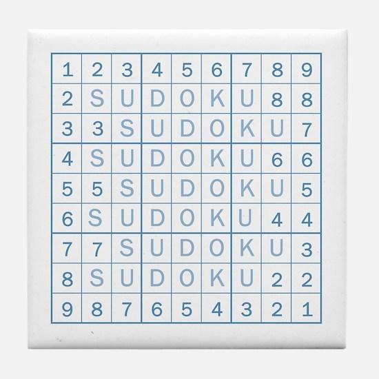 Blue Sudoku! Tile Coaster