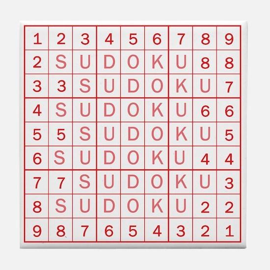 Red Sudoku! Tile Coaster