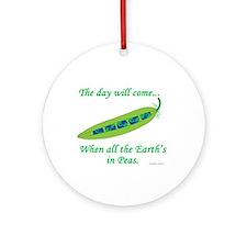 Earth Peace Ornament (Round)