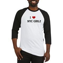I Love NYC GIRLZ Baseball Jersey