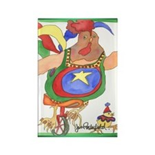 Unicycle Chicken Magnet