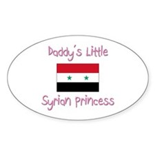 Daddy's little Syrian Princess Oval Decal