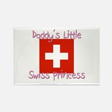 Daddy's little Swiss Princess Rectangle Magnet