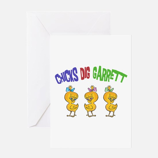 Chicks Dig Garrett Greeting Card