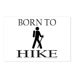 BORN TO HIKE Postcards (Package of 8)