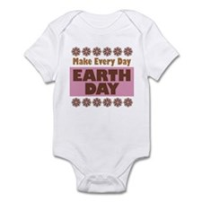 Earth Day pink and brown Infant Bodysuit