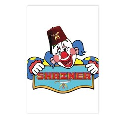 Proud Shriner Clown Postcards (Package of 8)