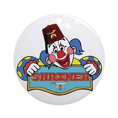 Proud Shriner Clown Ornament (Round)