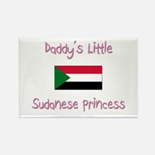 Daddy's little Sudanese Princess Rectangle Magnet