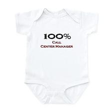 100 Percent Call Center Manager Infant Bodysuit