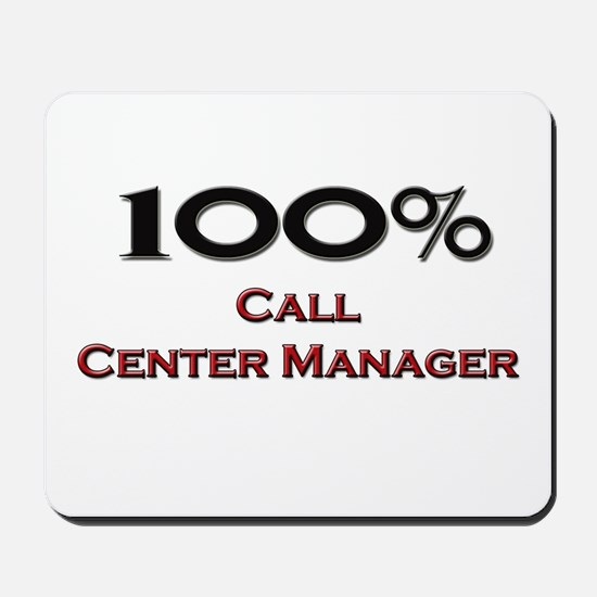 100 Percent Call Center Manager Mousepad