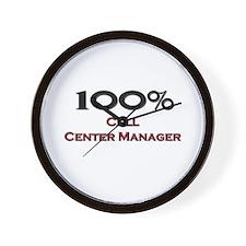 100 Percent Call Center Manager Wall Clock