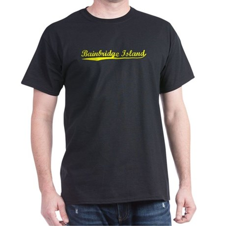 Vintage Bainbridge.. (Gold) Dark T-Shirt