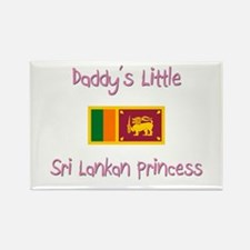 Daddy's little Sri Lankan Princess Rectangle Magne