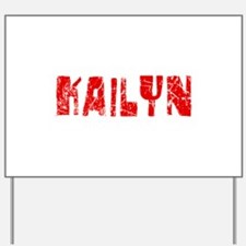 Kailyn Faded (Red) Yard Sign
