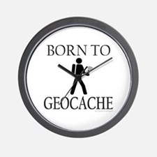 BORN TO GEOCACHE Wall Clock
