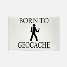 BORN TO GEOCACHE Rectangle Magnet (10 pack)
