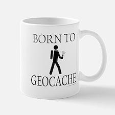 BORN TO GEOCACHE Small Mugs
