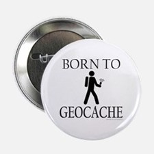 "BORN TO GEOCACHE 2.25"" Button (100 pack)"