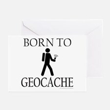BORN TO GEOCACHE Greeting Cards (Pk of 10)