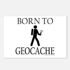 BORN TO GEOCACHE Postcards (Package of 8)