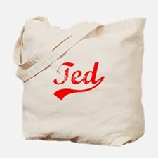 Vintage Ted (Red) Tote Bag