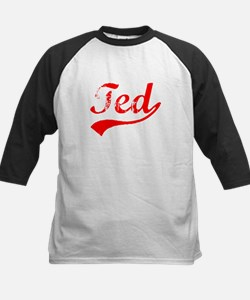 Vintage Ted (Red) Kids Baseball Jersey