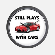 PLAYS WITH CARS Wall Clock