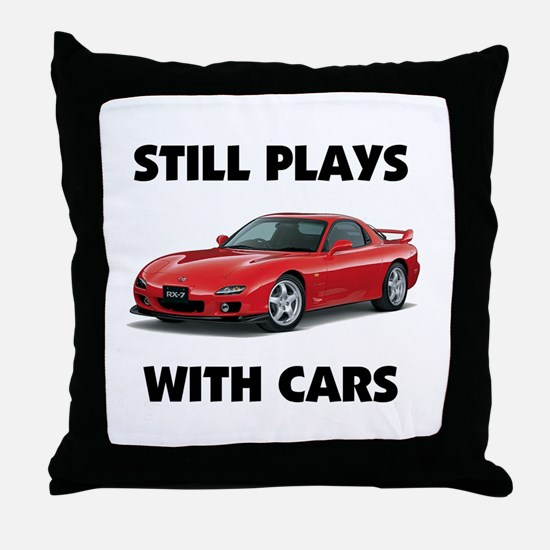 PLAYS WITH CARS Throw Pillow