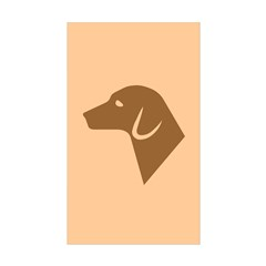 Dog Silhouette Rectangle Sticker 50 pk)