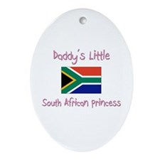 Daddy's little South African Princess Ornament (Ov