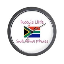 Daddy's little South African Princess Wall Clock