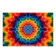 Rainbow Tie-dye Mandala Postcards (Package of 8)