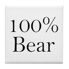 100% Bear Tile Coaster