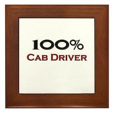 100 Percent Cab Driver Framed Tile