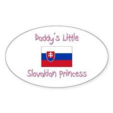 Daddy's little Slovakian Princess Oval Decal