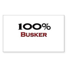 100 Percent Busker Rectangle Decal