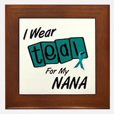 I Wear Teal For My Nana 8.2 Framed Tile