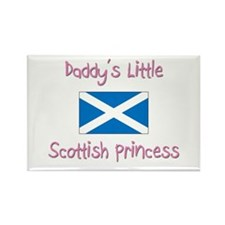 Daddy's little Scottish Princess Rectangle Magnet