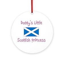 Daddy's little Scottish Princess Ornament (Round)