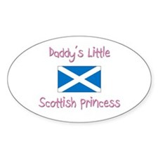 Daddy's little Scottish Princess Oval Decal