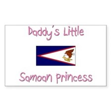 Daddy's little Samoan Princess Rectangle Decal