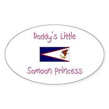 Daddy's little Samoan Princess Oval Decal
